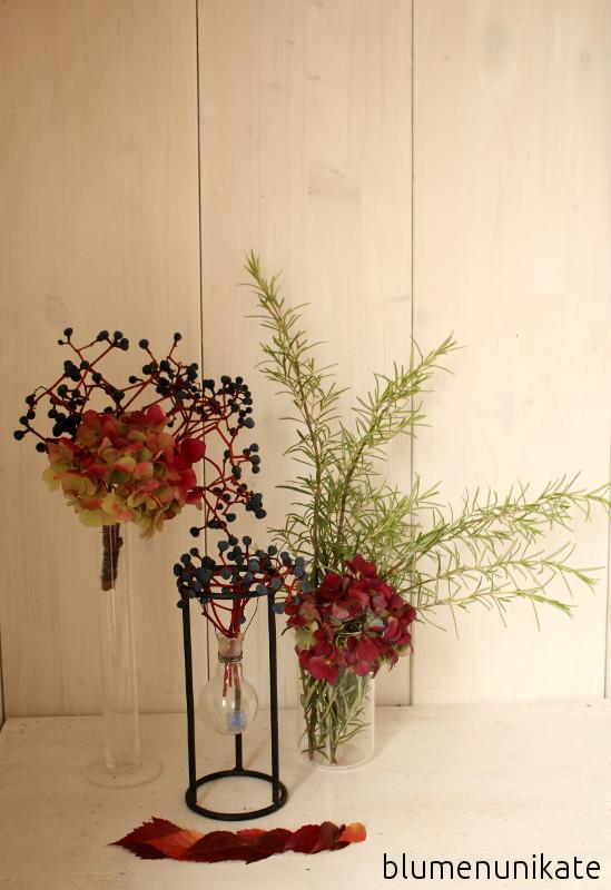 Bordeauxfarbene Hortensien Blumenunikate De